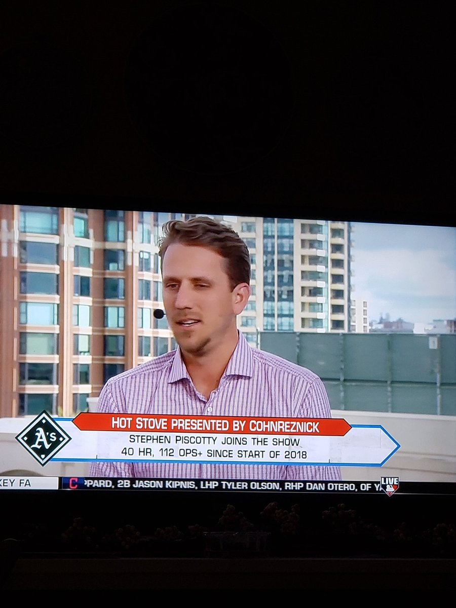 Awesome seeing Stephen Piscotty on Hot Stove and MLB NETWORK #Athletics #RootedInOakland