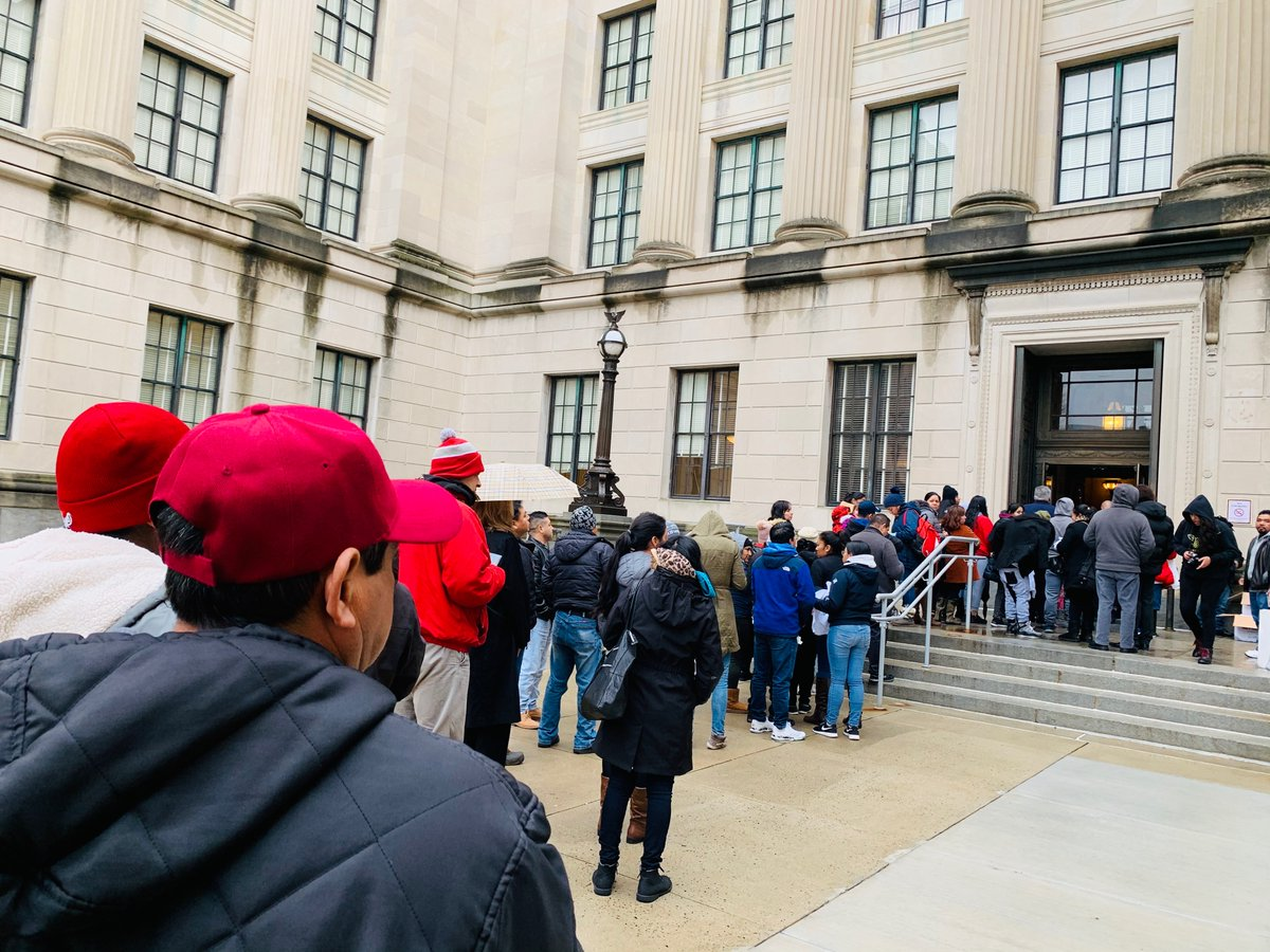 To say it's a full house at the #LicensesForAll assembly vote in Trenton, NJ would be an understatement. Hundreds of immigrants took the day off work and traveled to the capital. We didn't just fill up the committee room, we filled up 3 additional overflow rooms.<br>http://pic.twitter.com/llJf1mQAHQ