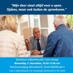 @BARENDRECHTzh - Woon jij in Oranjewijk, Buitenoord of Ter Leede en wil je iets over jouw wijk bespreken met wijkwethouder Cees Schaap? Je vindt hem woensdag 11 december van 10.00-12.00 uur bij Tennisvereniging Barendrecht (Graaf Adolfstraat 4). Hij gaat graag met je in gesprek over jouw wijk! https://t.co/9ueMvlSEMk