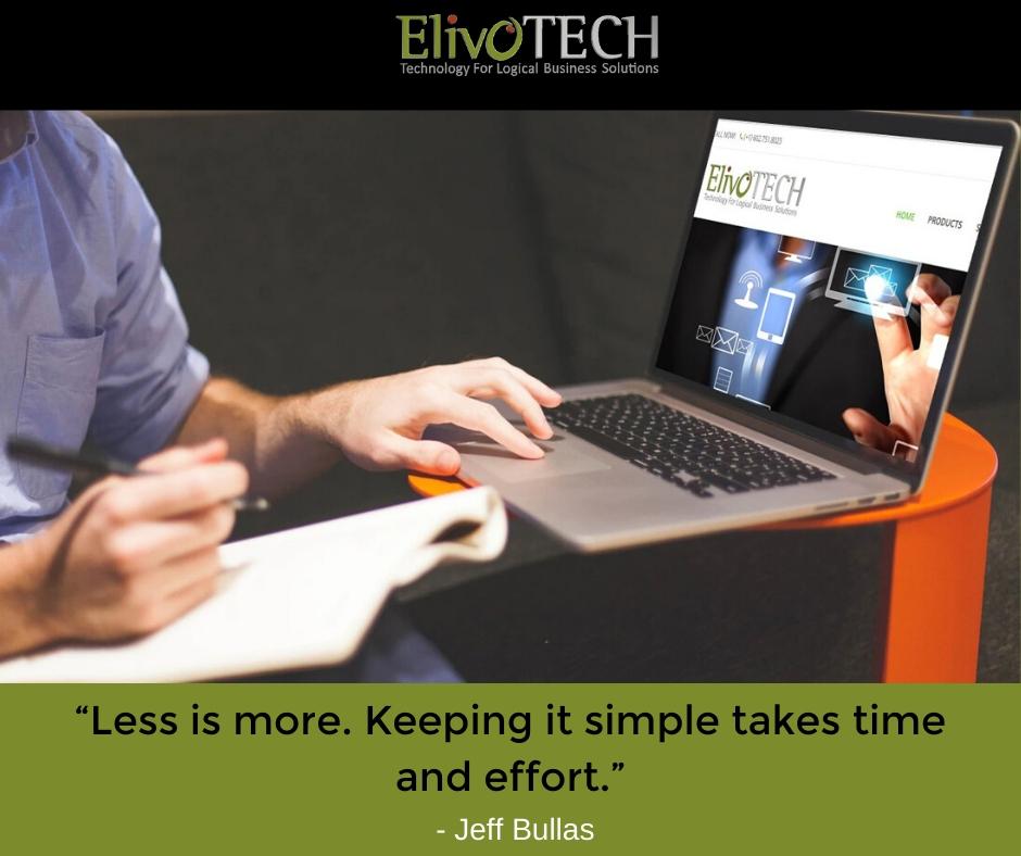 """Knowledge is a process of piling up facts; wisdom lies in their simplification.""  - Martin H. Fischer#ElivoTech #WebSolutions #MondayMotivation #EnjoyTheWeek"