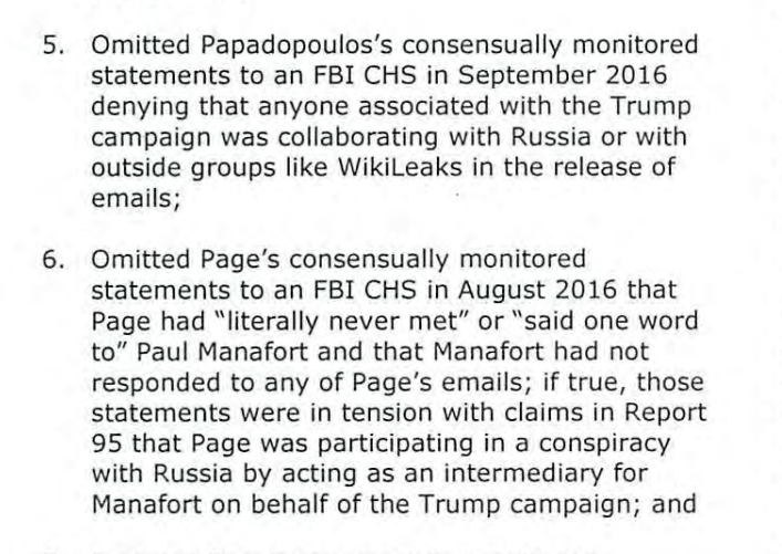 This is nuts During the 2016 campaign the FBI surveilled both Page and Papadopoulos for Russia collusion and came up with nothing. Dossier was completely debunked Yet they failed to inform the FISA court of this, and the operation continued into the Trump Administration