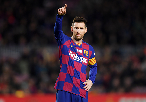 10 - With only 10 @LaLigaEN games for @FCBarcelona this season, Lionel Messi is the player with the most:  12 - Goals scored  4 - Direct free-kick goals  7 - Goals from outside the box  52 - Dribbles completed  5 - Through balls played  12 - Big chances created   Ace. <br>http://pic.twitter.com/btDnUoowKs