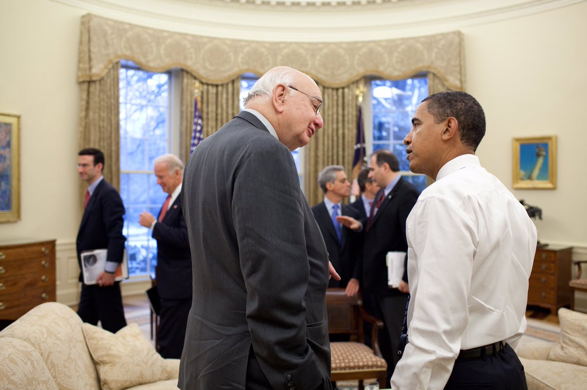 Because of Paul Volcker, our financial system is stronger and safer for the American people. I'll remember Paul for his consummate wisdom, untethered honesty, and a level of dignity that matched his towering stature. I'm proud to have called him not just an adviser, but a friend.