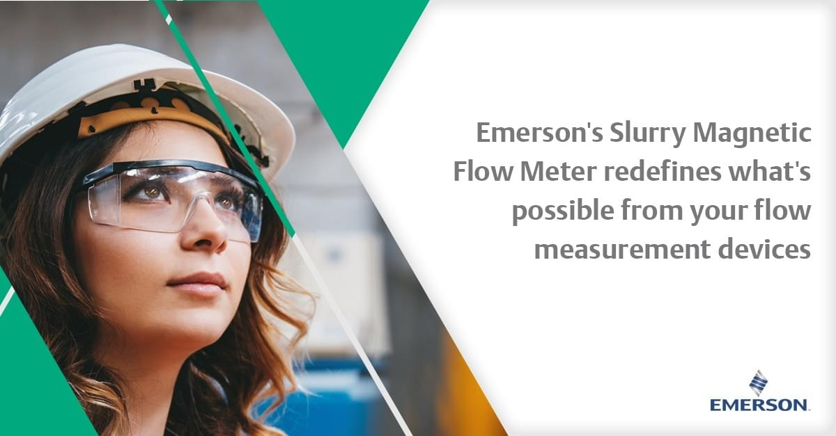 Emerson's new Slurry Magnetic Flow Meter cuts through process noise and delivers stable flow measurement readings in high noise and slurry conditions. http://emr.sn/pk7c