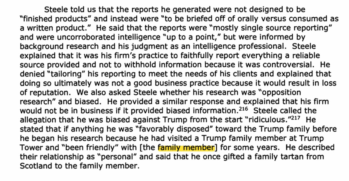 @mattmosk @ABC Important thing to note about the Steele/Ivanka revelations as noted in the OIG report, is that when Steele was first approached to do research work for Fusion GPS, he maintains he was favourably disposed towards the Trumps - his opponents claim he was always biased against Trump