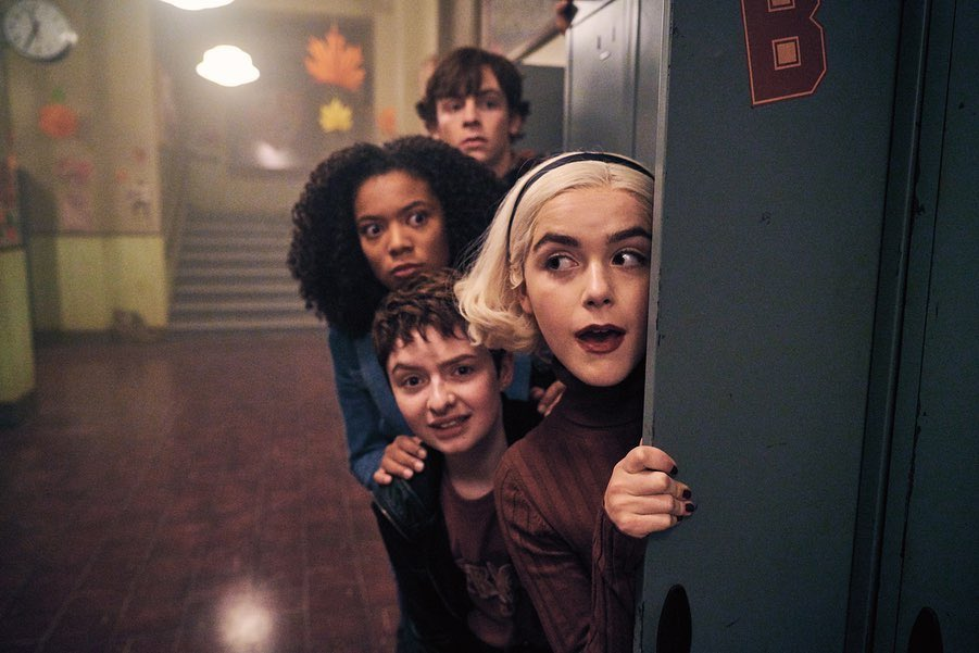 Replying to @sabrinanetflix: checking in on our coven after our big weekend announcement. 📸: @NetflixQueue