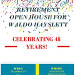Image for the Tweet beginning: Retirement Party for Waldo Hayslett,
