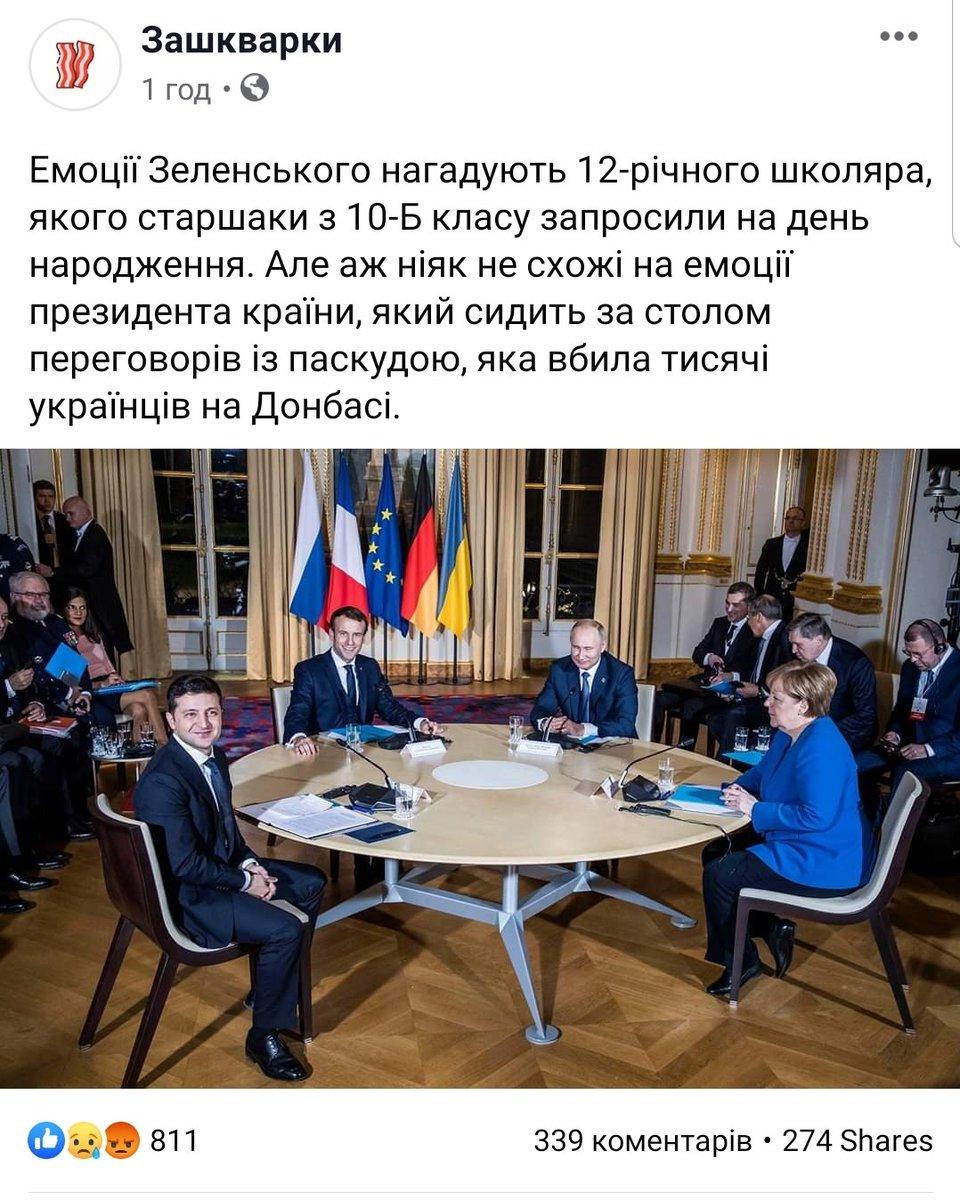 Зеленський і Путін залишилися спілкуватися віч-на-віч - після цього чотиристоронній формат переговорів продовжиться, - Офіс президента - Цензор.НЕТ 1207