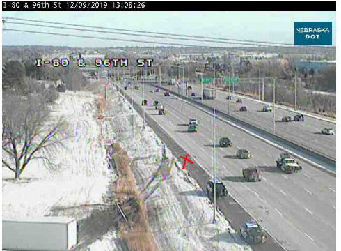 Image posted in Tweet made by Omaha Hwy Conditions on December 9, 2019, 7:13 pm UTC