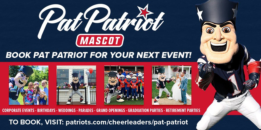 Are you part of #PatsNation and have an event coming up? You can book me to come make an appearance. I promise I'm a lot of fun! <br>http://pic.twitter.com/ZnDSIFNBOr