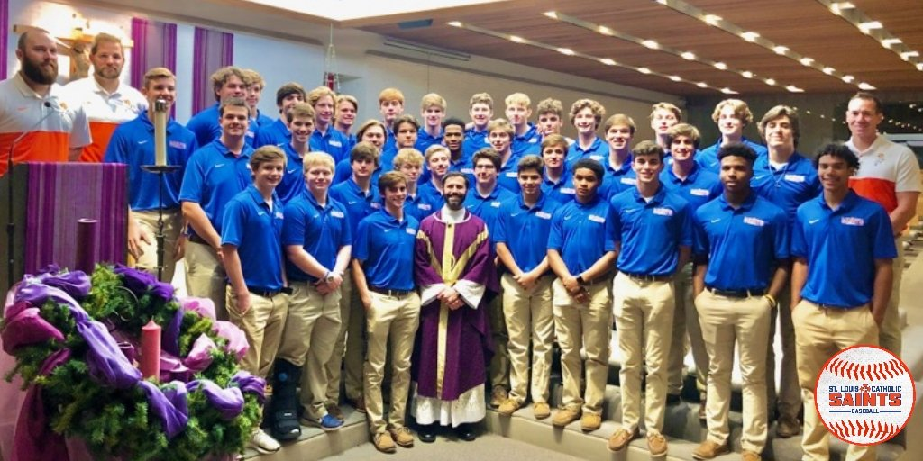 Christmas Party followed by a team mass at OLQH. It's beginning to look a lot like Baseball Season!  #itstime #GeauxSaints #SLCBaseball<br>http://pic.twitter.com/fWiV8K8Me5