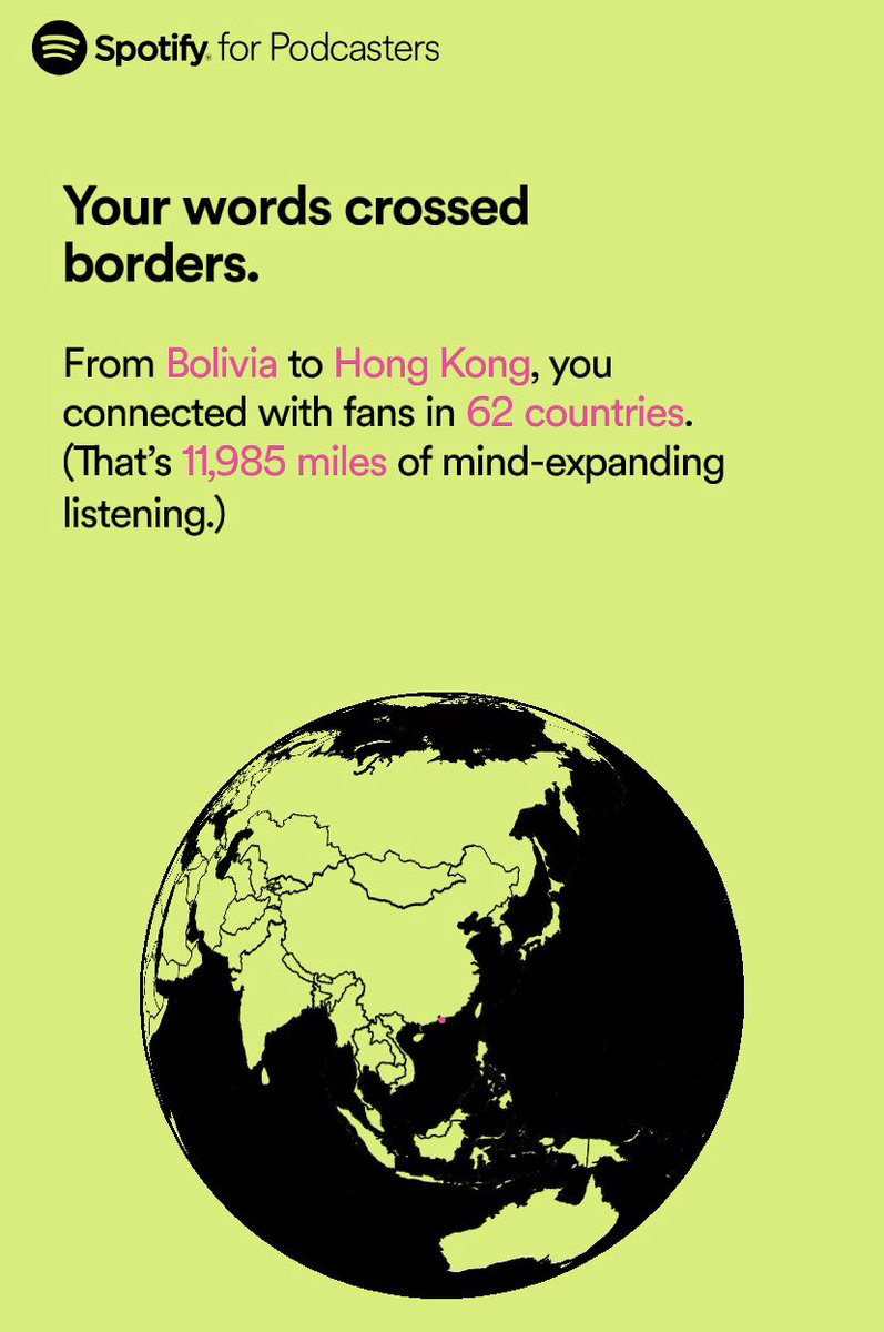 Also, holy shit y'all!!!! Thanks for all my international fam out there for listening!!  #spotifywrapped  <br>http://pic.twitter.com/wNkRBHe0lN
