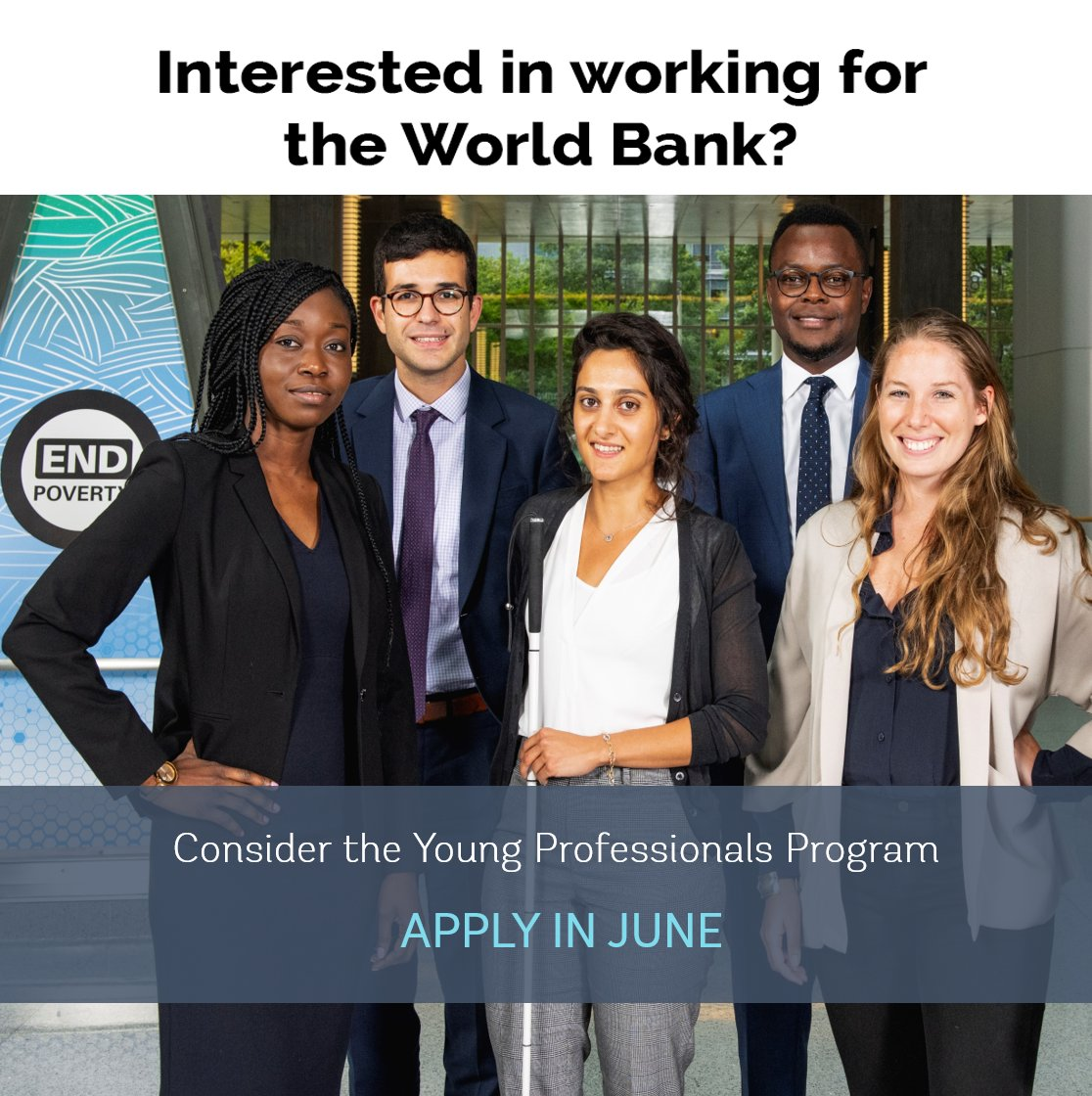 Join our mission to #endpoverty. The Young Professionals Program @WorldBank is actively seeking to hire staff with disabilities, and improving accessibility, services, and inclusion. #IDPD #IDPwD wrld.bg/wBSW50xuuDk