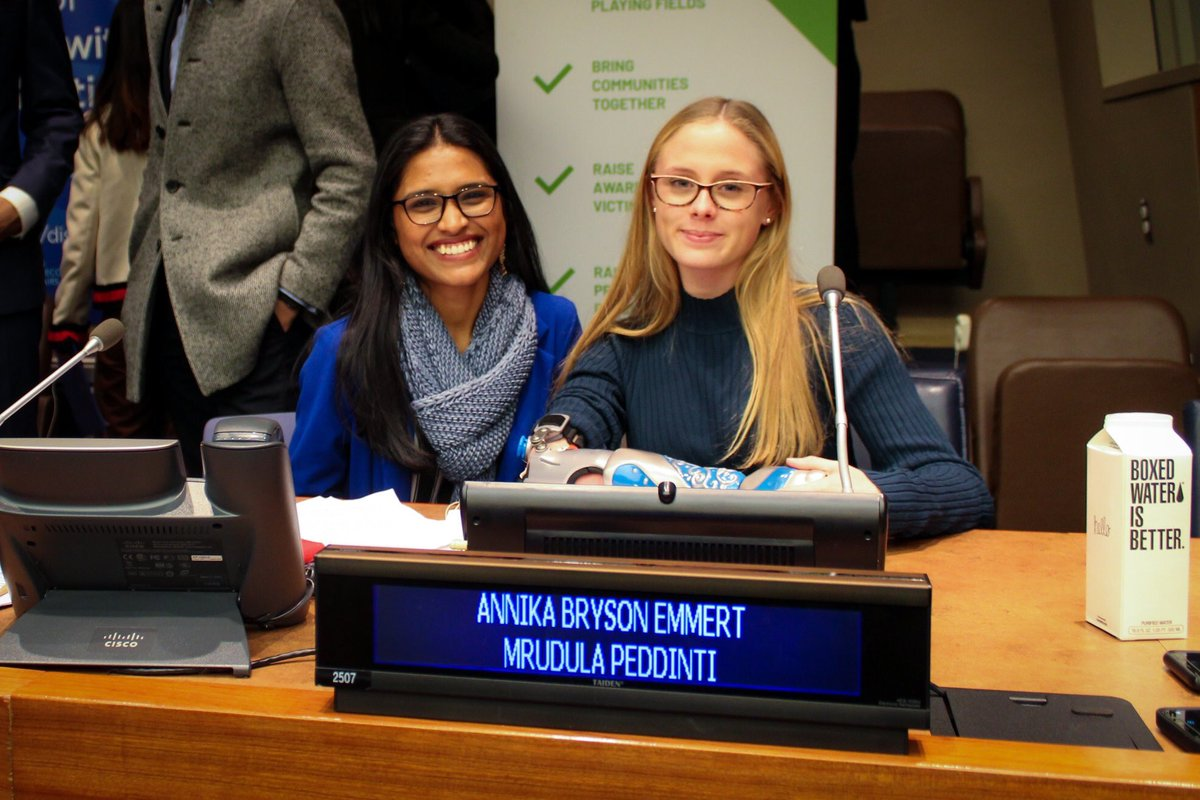 """This past September, one of our bionic kids, Annika, spoke at the @UN and we couldn't be more proud to share she was invited back again last week, joined by our branding director Mrudula, to serve as a young self-advocate for the """"sports for all"""" initiative on #IDPD 💙 @UCF"""