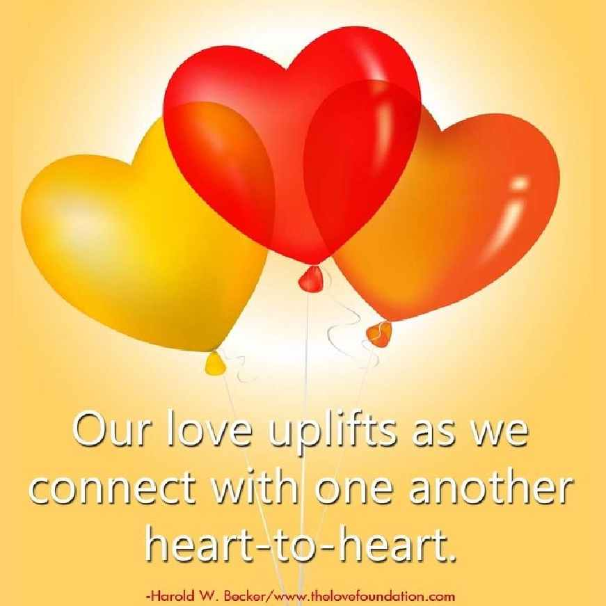 Our #Love uplifts when we connect with one another #Heart to #Heart!❤️💛 #TuesdayThoughts #TuesdayMotivation #JoyTrain #RainKindness #LUTL #ChooseLove #IAMChoosingLove 💛💛💛💛💛💛💛💛💛