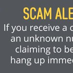 Image for the Tweet beginning: #ScamAlert Tip: Beware of unsolicited