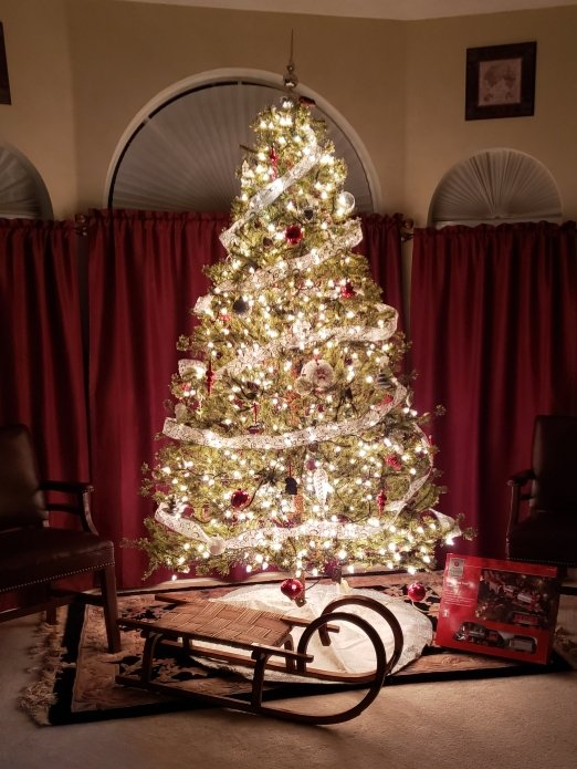 Merry Christmas to all! Take a break and enjoy the beautiful Christmas Tree my wife @DebraMusselwhi1 trimmed today. Time to get into the holiday spirit! Share your decorations and or holiday traditions!