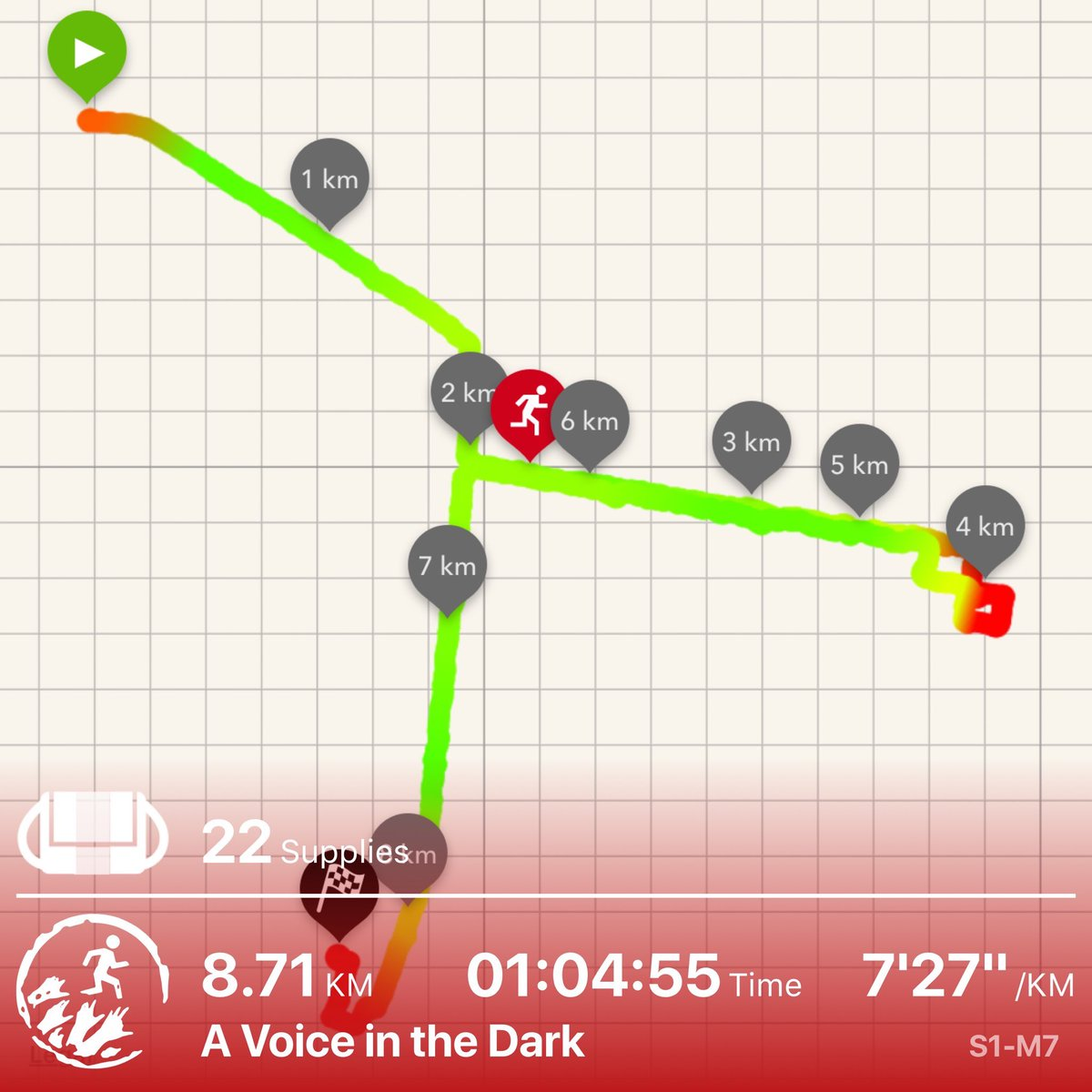 Survived a night in the wilderness with no ammo, zombies chasing, and just one voice #zombiesrun<br>http://pic.twitter.com/dsW3KPjXRt