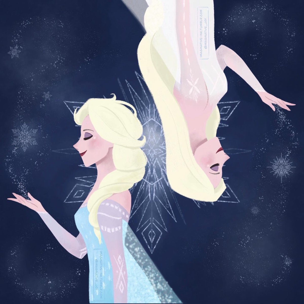 Messing around with a lineless style by drawing my favorite queen in my favorite dresses of hers. Trying to make something bigger of this to show off the rest of the dresses. Take this version in the meantime! #Frozen2  #frozen  #frozen2spoilers #elsa  #queenelsa <br>http://pic.twitter.com/2uvhRFM8NS