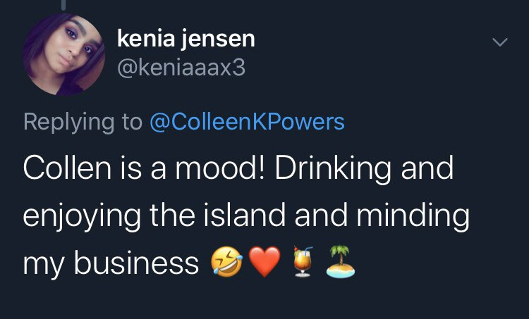 Kenia gets it.  I hope babygirl's somewhere out there drinking a four loko & leaving grown men on read.