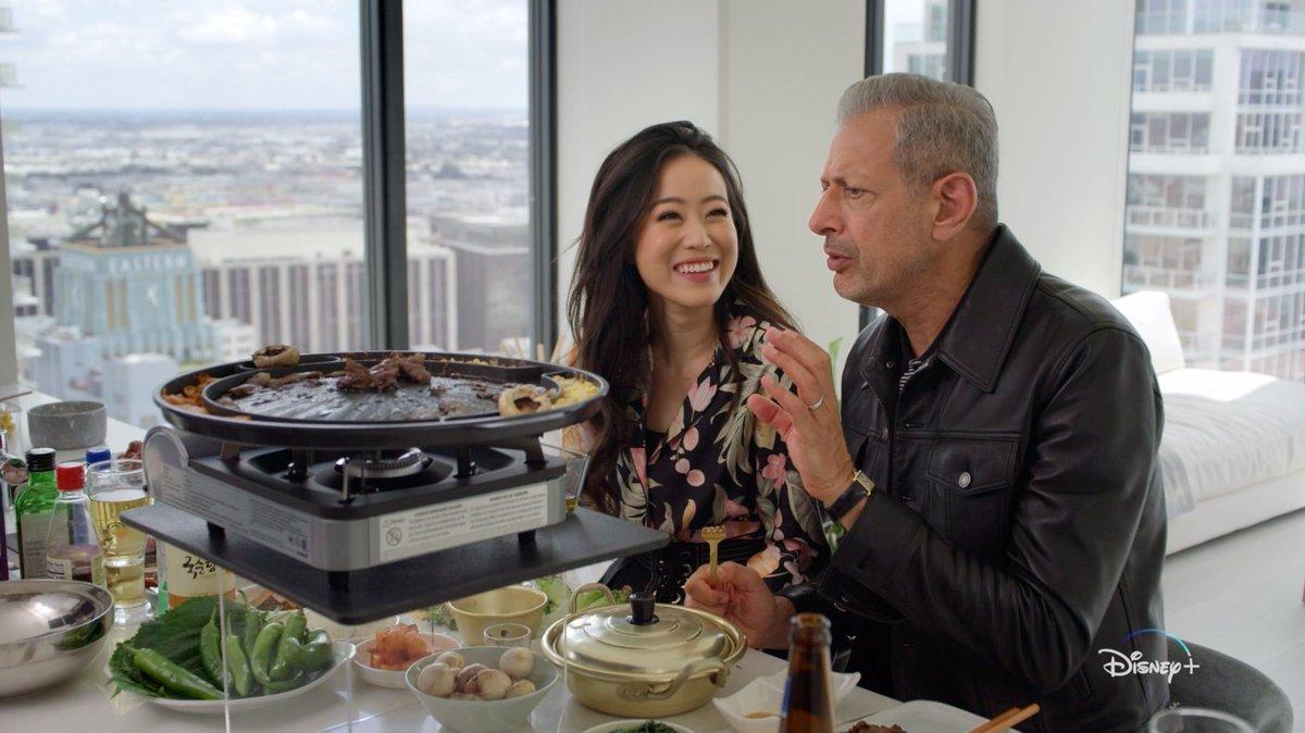 So... who's down for Korean BBQ? We're *starving* 😋🔥 Episode 5 of #TheWorldAccordingToJeffGoldblum is on the menu tonight—stream it now on #DisneyPlus!