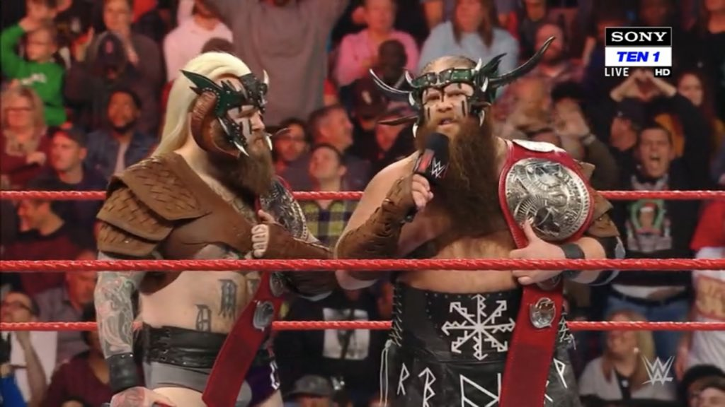 The #VikingRaiders have issued an open challenge! Who will answer? #RAW @Erik_WWE @Ivar_WWE