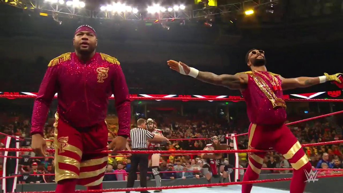 The #RAW #TagTeamTitles are on the line NEXT when The #StreetProfits @AngeloDawkins & @MontezFordWWE challenge The #VikingRaiders @Erik_WWE & @Ivar_WWE!