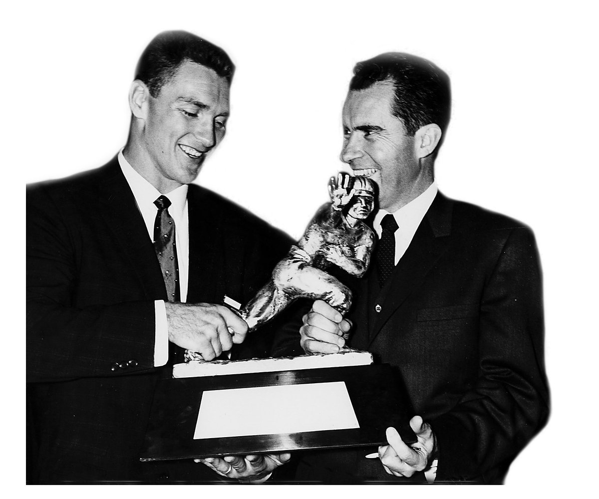 Sixty years ago today Billy Cannon, LSU's only @HeismanTrophy winner, was presented with the most prestigious award in college football.<br>http://pic.twitter.com/4Cb7NF0Yx3