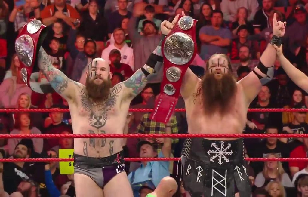 The RAID CONTINUES! The #VikingRaiders are still your #RAW #TagTeamChampions. @Erik_WWE @Ivar_WWE