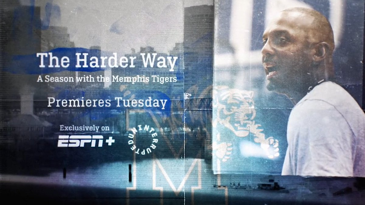 The Harder Way: A Season with the Memphis Tigers    Produced by @uninterrupted and ESPN+  The first two episodes available Tuesday  More Info: http://ow.ly/4igi50xvIZI  Trailer: https://tinyurl.com/s5m9om8  #GoTigersGo