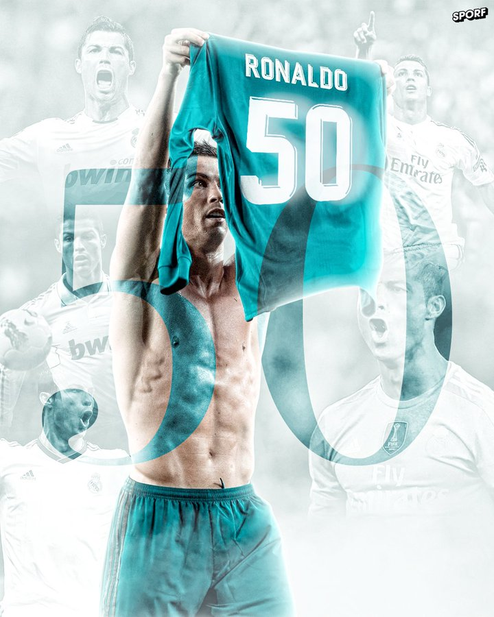 ON THIS DAY 📅 2 Years Ago: Cristiano Ronaldo became the FIRST EVER player to score 50+ goals in 7 consecutive years. 📅 2011 ⚽️ 60 Goals 📅 2012 ⚽️ 63 Goals 📅 2013 ⚽️ 69 Goals 📅 2014 ⚽️ 61 Goals 📅 2015 ⚽️ 57 Goals 📅 2016 ⚽️ 55 Goals 📅 2017 ⚽️ 53 Goals.