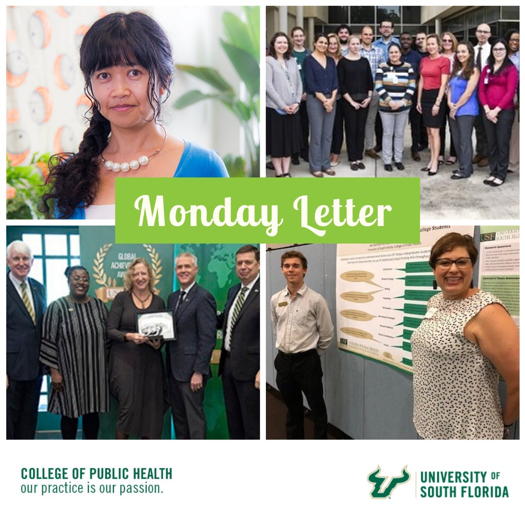 Usf Public Health On Twitter Cozy Up With The Current Issue Of The Mondayletter And Catch Up On The Latest Reasons Why The Usfcophrocks Https T Co Jhro7wmcrz Coph35 Ourpracticeisourpassion Usfalumniassn Usfhealth Usfresearch Https T Co