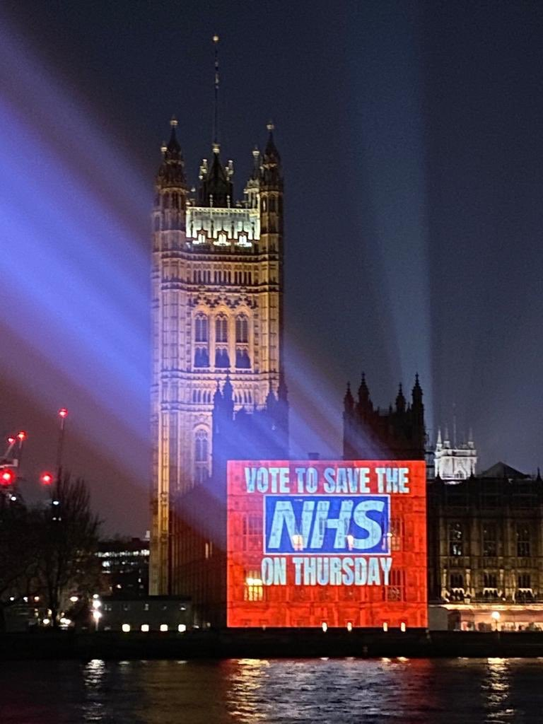 Please vote to save the NHS on Thursday, Vote Labour.