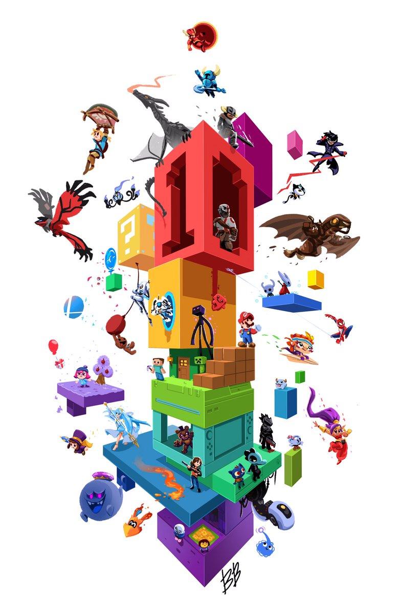 Happy 10 years of games!  #procreate #pokemon #ShovelKnight #HollowKnight #Bioshock #littlebigplanet #DreamsPS4 #Undertale #Persona5 #AHatInTime #LegendOfZelda #AnimalCrossing<br>http://pic.twitter.com/APsza2O6bx
