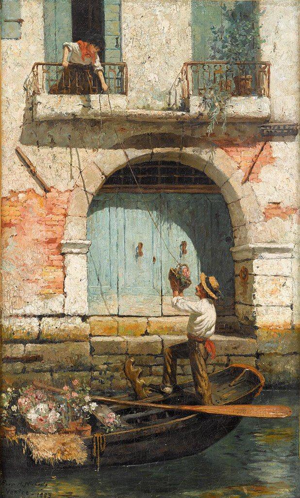"""The Flower Seller Venice""  - by: Burr H. Nicholls (1883).. <br>http://pic.twitter.com/r7lDzSIOKD"