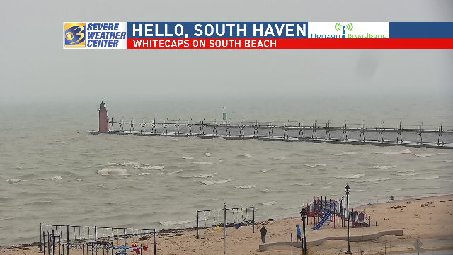 While not necessarily strong, today's winds on the #LakeMichigan shoreline were enough to create whitecaps and keep the #flooding and #erosion issues on the front burner.