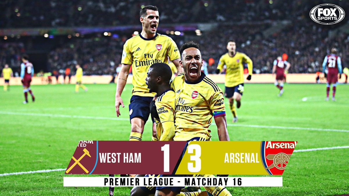 Aubameyang, Pepe and Martinelli score 9 minutes apart as Arsenal fight back from 0-1 down to get their first win in 10 games. 💪