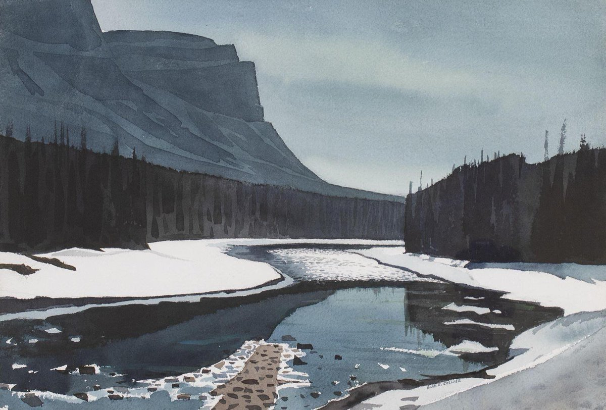 Bow River and Castle Mt. Alan Collier n.d. <br>http://pic.twitter.com/nVWquJDI8y