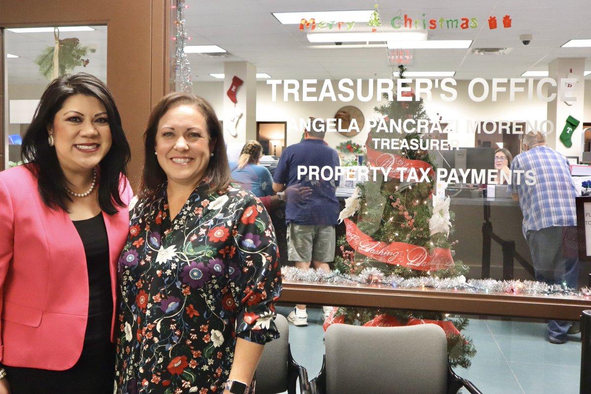 AZ Treasurer @KimberlyYeeAZ visited @yumacountyaz and caught up with Yuma County Treasurer Angela Pancrazi Moreno.