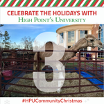 Don't miss your chance to say hello to close friends of Santa's reindeer at Santa's Stable Petting Zoo! It's a can't-miss! 🐪 #HPUCommunityChristmas #HPUTraditions