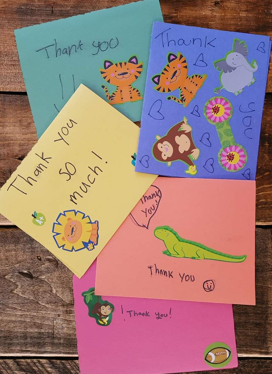 Last summer we were happy to contribute to our favorite 6th Grade teacher Dana Muñoz Serwes Help Us Keep Organized project. This afternoon our day was made when we received a package of hand-made thank-you cards from her students.@DonorsChoose  #sharethanks