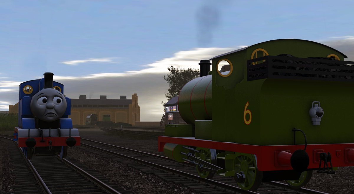 """""""Percy, I-I'm sorry...,"""" said Thomas, as the whirring of machinery in the sheds behind them became fainter and fainter and then...stopped. There was nothing more they could do.<br>http://pic.twitter.com/9j2koQBnB7"""