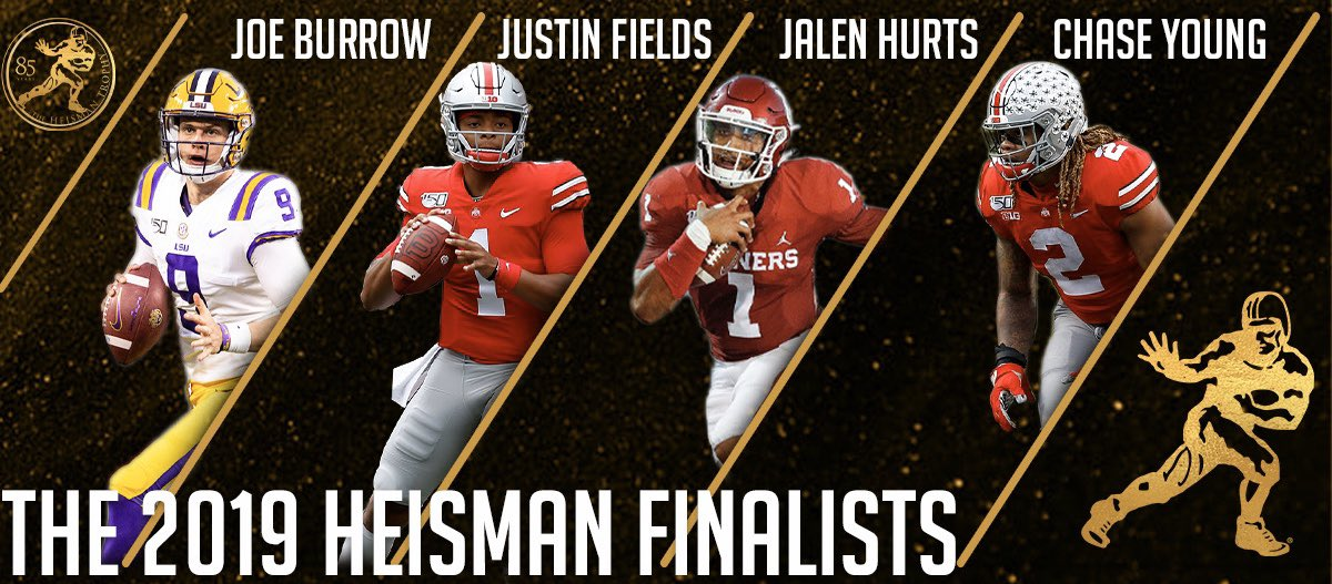 Image result for 2019 heisman finalists