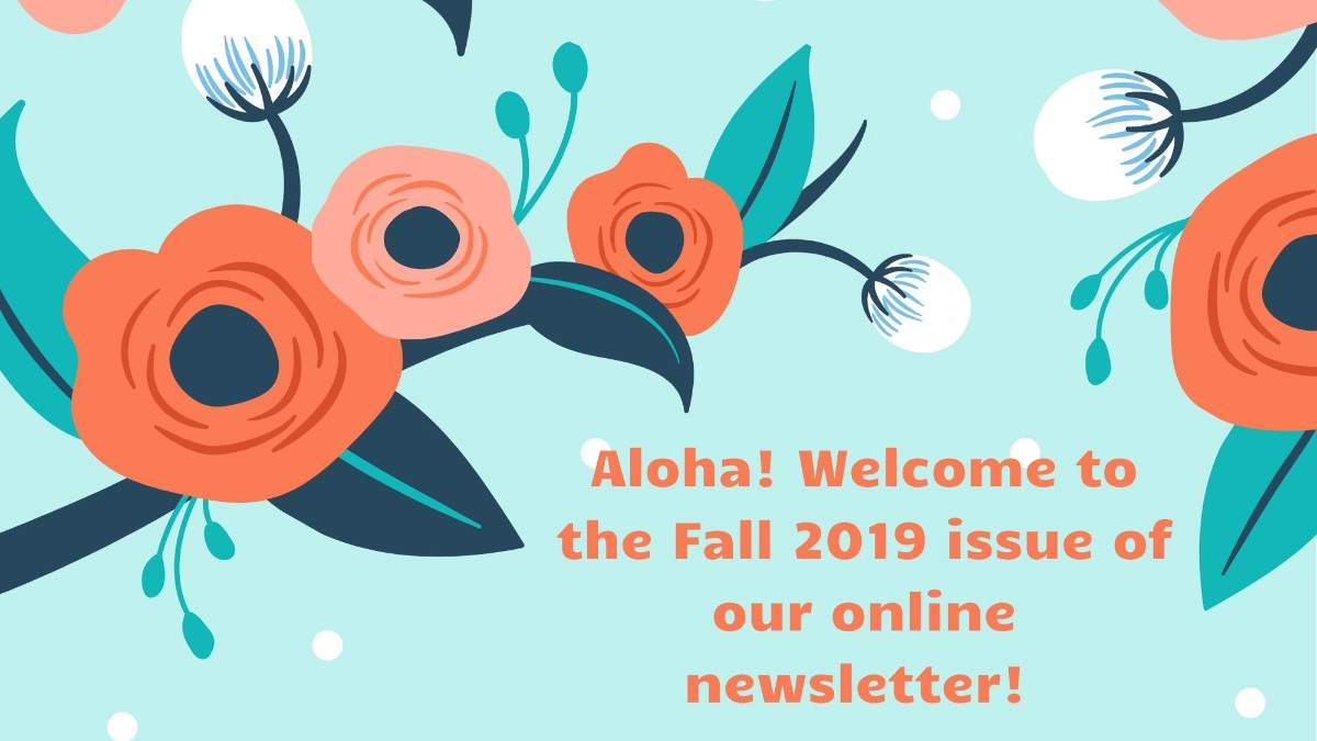 Image for the Tweet beginning: Aloha! View our Fall 2019