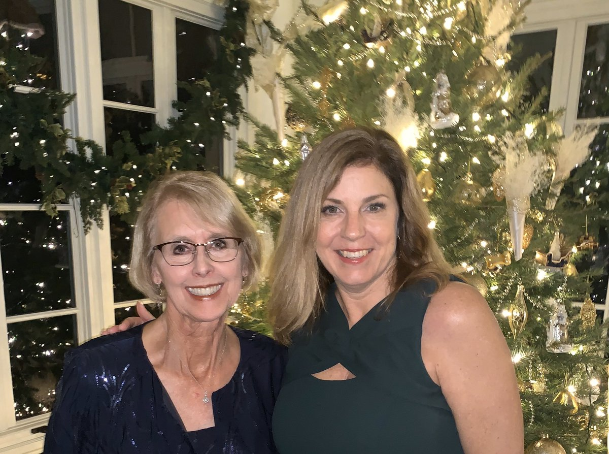 Our Chair @kayhoflander  and ED @mojeanevans  at the Vice President's Christmas Party.