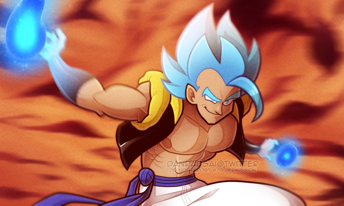 wanted to redraw a frame of #gogeta from the broly movie! #dragonball<br>http://pic.twitter.com/4varYCKALr