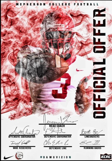 Blessed to receive an offer from McPherson College #GoBulldogs🔴⚪️