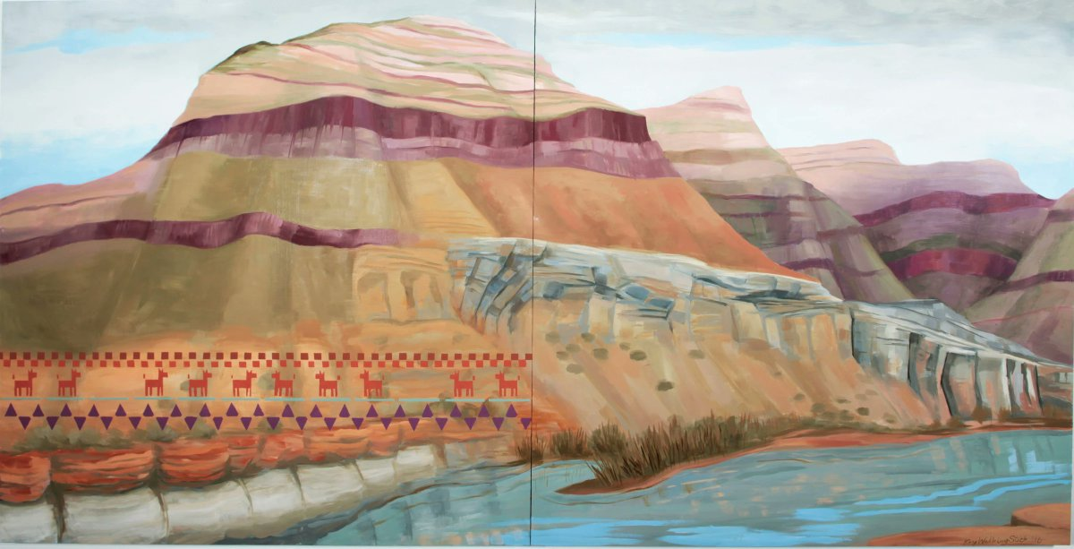 Salt River Canyon, 2016 by Kay WalkingStick, landscape artist and a member of the Cherokee Nation #womensart<br>http://pic.twitter.com/DQMO18gyHm
