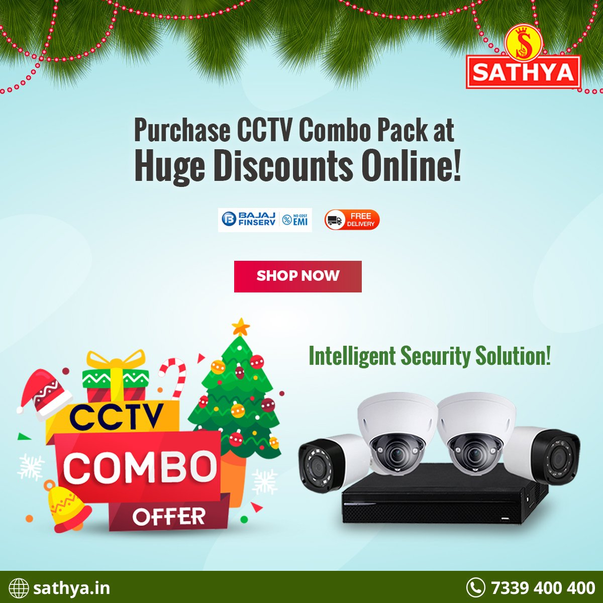 #CCTVCombo Offer! This #Christmas take a pledge to keep your surrounding safe and secure! Get branded #CCTVCameras and ensure #security eveywhere! Visit http://www.sathya.in or call 7339400400 for details.  Grab #CCTV Offers here @ #SathyaOnline : https://tiny.sg/cQ0DfTUpic.twitter.com/Yy3OSpk8UD