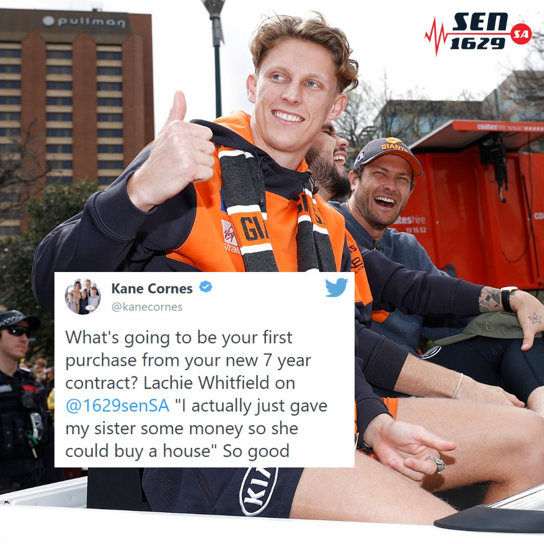 Huge respect for Lachie Whitfield. 🙌🙌🙌🙌🙌🙌 Listen to the full interview here: player.whooshkaa.com/episode?id=516… @GWSGIANTS @kanecornes @_andrewhayes
